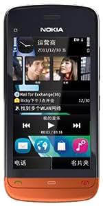 诺基亚C5-06(Nokia C5-06) 智能时尚手机 (黑/橙色)