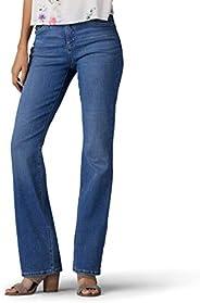 LEE 女式 Flex Motion 标准版微喇牛仔裤