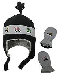 N'Ice Caps 男童和婴儿羊绒内衬羊毛帽连指刺绣套装