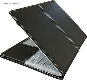 "mCoque PU 皮套,适用于 Microsoft Surface 笔记本电脑(13.5 英寸 - 英寸黑色),带免费屏幕保护膜(13.5 英寸 Microsoft Surface 笔记本电脑,黑色) 13.5"" Microsoft Surface Laptop"