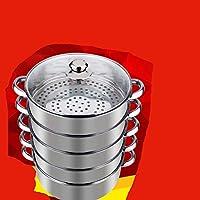 不锈钢蒸锅三层四层五层加厚多层22-36cm大蒸笼火锅电磁炉通用抖音四层22CM