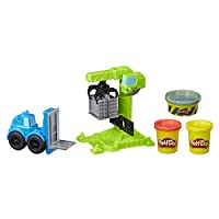 Play-Doh E5400EU4 滚轮起重车和叉牌堆叠器,黏土适用于充满想象力和创造力的游戏,多色