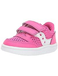 Saucony Jazz Court 儿童运动鞋 粉色/白色 6 M US Toddler