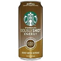 Starbucks 星巴克 倍醇能量咖啡, 摩卡咖啡,15液体盎司/443毫升。 罐装(12罐)
