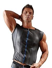 Svenjoyment 内衣 21609514741 男式衬衫蓝色拉链黑色-XXL,(Nero 001),XXL 码
