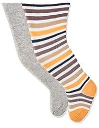 Playshoes 女童条纹和纯色舒适裤袜(每件2件)