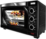 MPM MPE-09/T 电炉,对流,30 升,不锈钢,鸡肉烘烤机,定时器,温度调节,黑色,1600 W