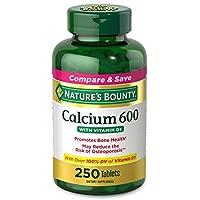 Nature's Bounty 天然碳酸鈣維生素D軟膠囊,有益于身體,600mg鈣和800IU維生素D3,250粒