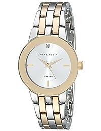 Anne Klein 女士 AK/1931SVTT 钻石装饰表盘双色手链手表