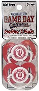 Game Day Outfitters NCAA Indiana Hoosiers 婴儿安抚奶嘴,均码,多色