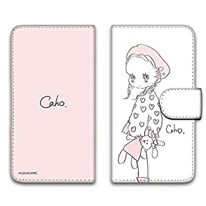 caho 保护套印花翻盖毛绒玩具和小女孩手机保护壳翻盖式适用于所有机型  ぬいぐるみと少女A 4_ AQUOS PHONE ZETA SH-01F
