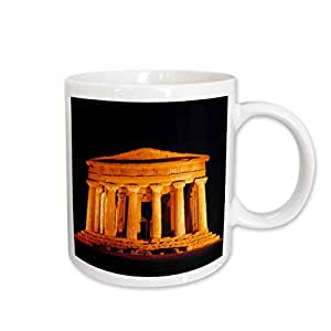 3dRose Italy Sicily Agrigento Temple of Concord Ruins Ric Ergenbright Ceramic Mug, 15-Ounce