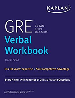 """GRE Verbal Workbook: Score Higher with Hundreds of Drills & Practice Questions (Kaplan Test Prep) (English Edition)"",作者:[Kaplan Test Prep]"