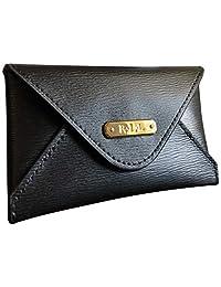 Lauren Ralph Lauren 专业女士皮革信封卡包 黑色