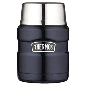 Thermos 膳魔师 帝王系列 16盎司(454g)不锈钢旅行食物保温罐 深蓝色 单一尺寸