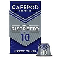 CAFEPOD Nespresso兼容 Ristretto咖啡膠囊 - Ristretto Strength 10 - 6 Packs of 10 Capsules (共60個膠囊)