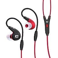 MEE-audio M7P-RD入耳式运动耳机 强劲低音 记忆耳挂 线控麦克风 纳米防水 红色