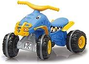 Jamara 460575 滑轨 Little Quad 蓝色由坚固的塑料制成,拖车离合器,车轮上有*抓地力橡胶圈