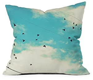 DENY Designs Shannon Clark Blue Skies Ahead Throw Pillow, 18-Inch by 18-Inch