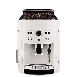 Krups德国克鲁伯全自动咖啡机系列EA810780欧洲原装进口意式浓缩自动清洗咖啡机(水箱容量1.8L)白色1450W (两年质保)(包邮)(亚马逊自营商品, 由供应商配送)