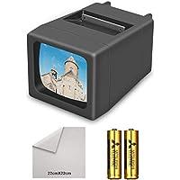 Rybozen 35 毫米幻灯片查看器照明幻灯片投影仪适用于 2X2 和 35 毫米照片和胶片