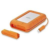 LaCie 莱斯 4TB 坚固迷你 USB 便携式外置硬盘适用于 PC 和 MAC