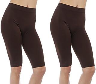 Gilbins 2 件装女士迷你短裤无缝弹力瑜伽锻炼自行车跑步短裤