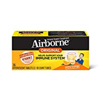 Airborne 清爽香橙泡騰片,36片-1000毫克維生素C -補充劑
