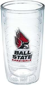 Tervis 1041852 Ball State University Emblem Individual Tumbler, 16 oz, Clear