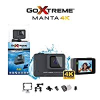 GoXtreme 'Manta' 4K 运动相机,带网络摄像头功能,170°广角,10米防水