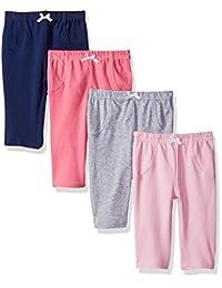 Luvable Friends 婴儿棉质裤子,4件装