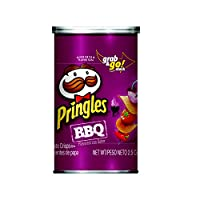 Pringles?Potato Crisps Chips, BBQ Flavored, Grab and Go, 2.5 oz Can(Pack of 12)