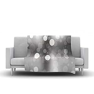 "Kess InHouse KESS 原创""Spectral""灰色波克羊绒毯,101.6 x 76.2 厘米"