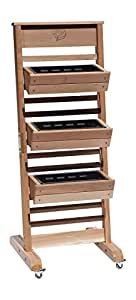 GRO Products Vertical GRO System with 3-Planter Boxes and Casters 18-Inch by 58-Inch