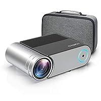 迷你投影儀,Vamvo L4200 便攜式視頻投影儀,支持全高清 1080P 200 英寸顯示屏;戶外電影投影儀 3800 Lux 50,000 小時,可與Fire TV Stick、PS4、HDMI、VGA、AV 和 USB 兼容