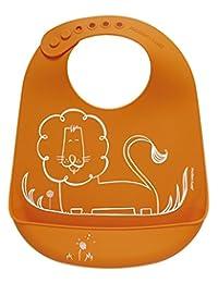 美国Modern+Twist 可调节硅胶围嘴围兜-华丽的狮子