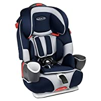 美国Graco 葛莱 鹦鹉螺安全座椅 倾斜角度3段可调 配有豪华置杯架 双侧加强保护垫 蓝色 9个月-12岁 8J96SPNN