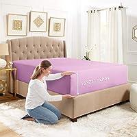 Empyrean 床上用品深口袋床笠 – 酒店奢华丝滑柔软双拉绒超细纤维床单 – 低*性不起皱凉爽深口袋床单。 Lavender Dream Split King Size EB-FTD-sht-21-sk-Lvndrdrm-FBA-MX