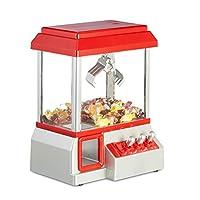 Relaxdays Candy Grabber 硬币厂 糖果机 带年度市场 迷你手持自动机 玩具 红色