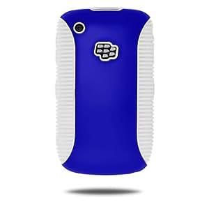 Amzer 混合保护套适用于 BlackBerry Curve 8520、Curve 8530 和 Curve 3G 9300-1 包 - 简约包装 - 蓝色/白色