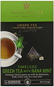 Wissotzky the Signature Collection Tea, Timeless Green Tea with Nana Mint, 16 Count (Pack of 6)