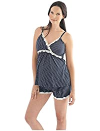 belabumbum 女式 ' dottie 哺乳吊带 & 短裤–*蓝圆点