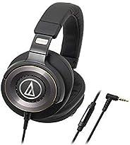 Audio-Technica 鐵三角 ATH-WS1100iS 強勁低音頭戴式耳機,帶有直列式麥克風和控制功能
