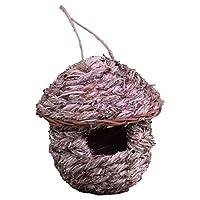 Dehner Natura Freya 野鸟巢袋 直径 16 厘米 高 18 厘米 45 毫米 飞行孔 米色/玫瑰色 140 克 4383352