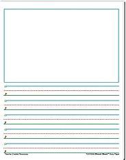 Teacher Created Resources (76540) Smart Start 1-2 Story Paper: 40 sheet tablet
