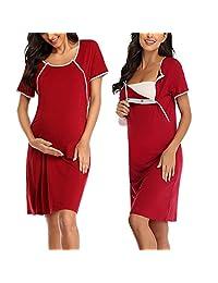 ARGCONNER 女式孕妇哺乳睡衣 配送/孕妇/*哺乳睡衣