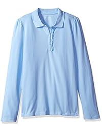 The Children's Place Girls' Long Sleeve Uniform Ruffle Polo