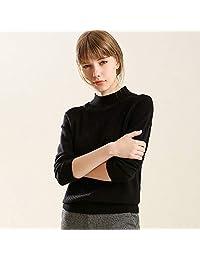 夷榀 半高领毛衣女宽松套头短款针织衫慵懒风秋冬季长袖加厚韩版打