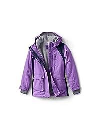 Lands' End 女孩防水冬季大衣,M 码,紫色,薰衣草色
