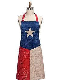 Kay Dee Designs R1631 复古德州旗厨师围裙,